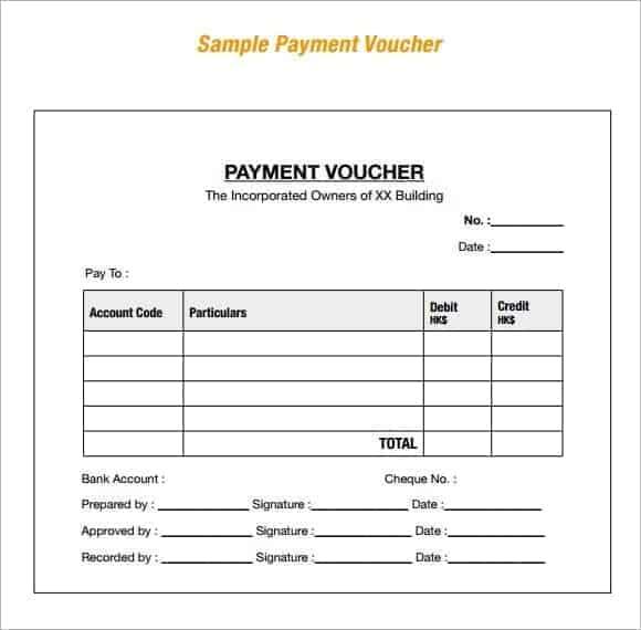 voucher template 5741