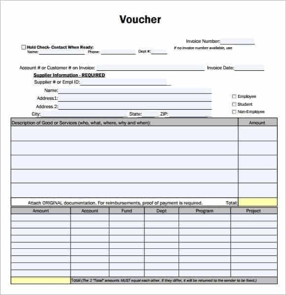 23+ Free Voucher Template - Word Excel Formats