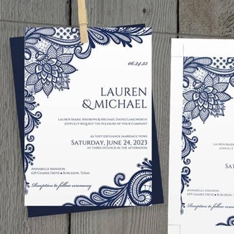 wedding invitation sample 14.641