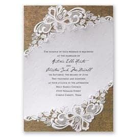 wedding invitation sample 8461