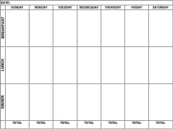 weekly schedule sample 12.641