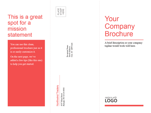 word brochure format 19641