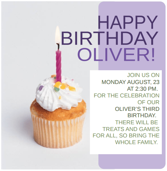 Birthday Invitation Template 241