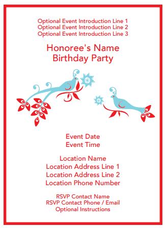 Birthday Invitation Template 4941
