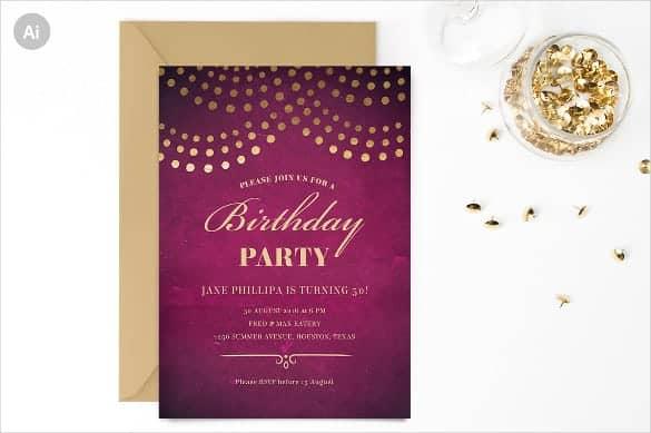 Birthday Invitation sample 1654