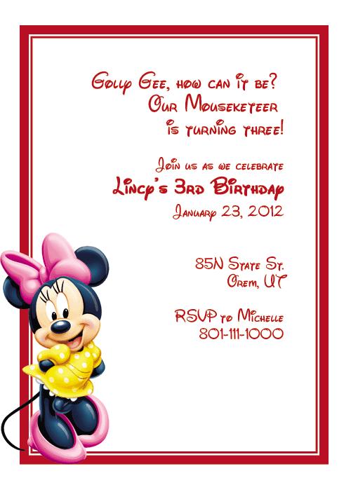 Birthday Invitation sample 541