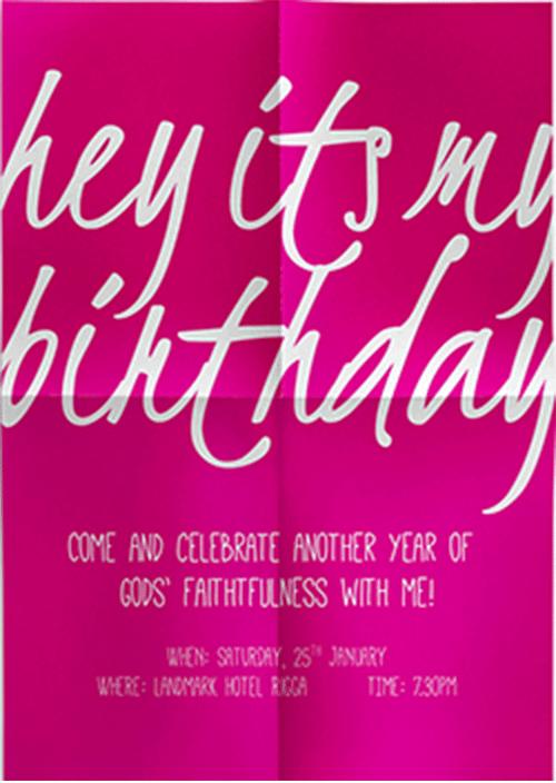 Birthday Invitation sample 641