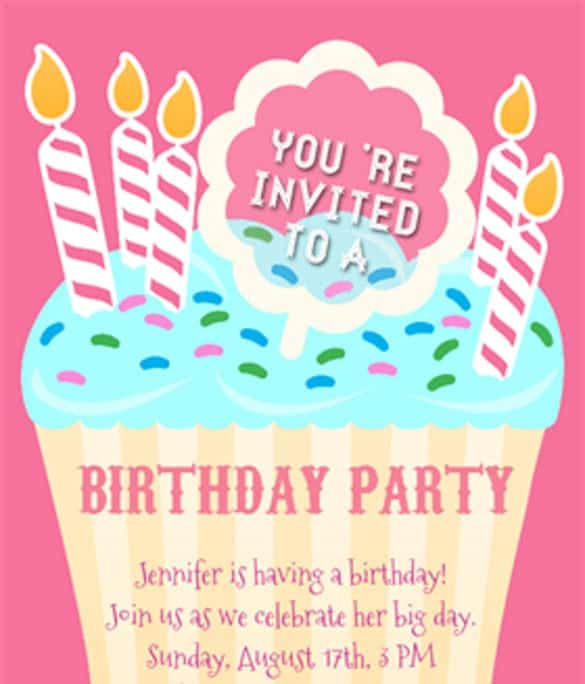 Word Excel Templates  Free Birthday Invitation Templates For Word