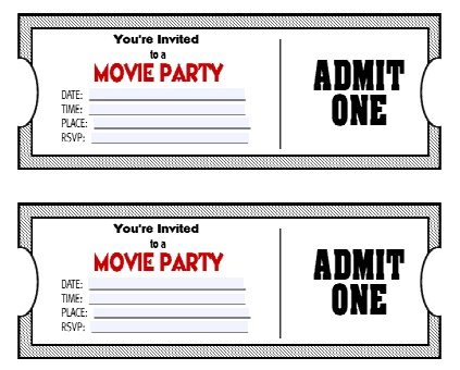 Ticket Invitation Template 141