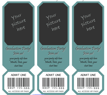 Ticket Invitation Template 2641