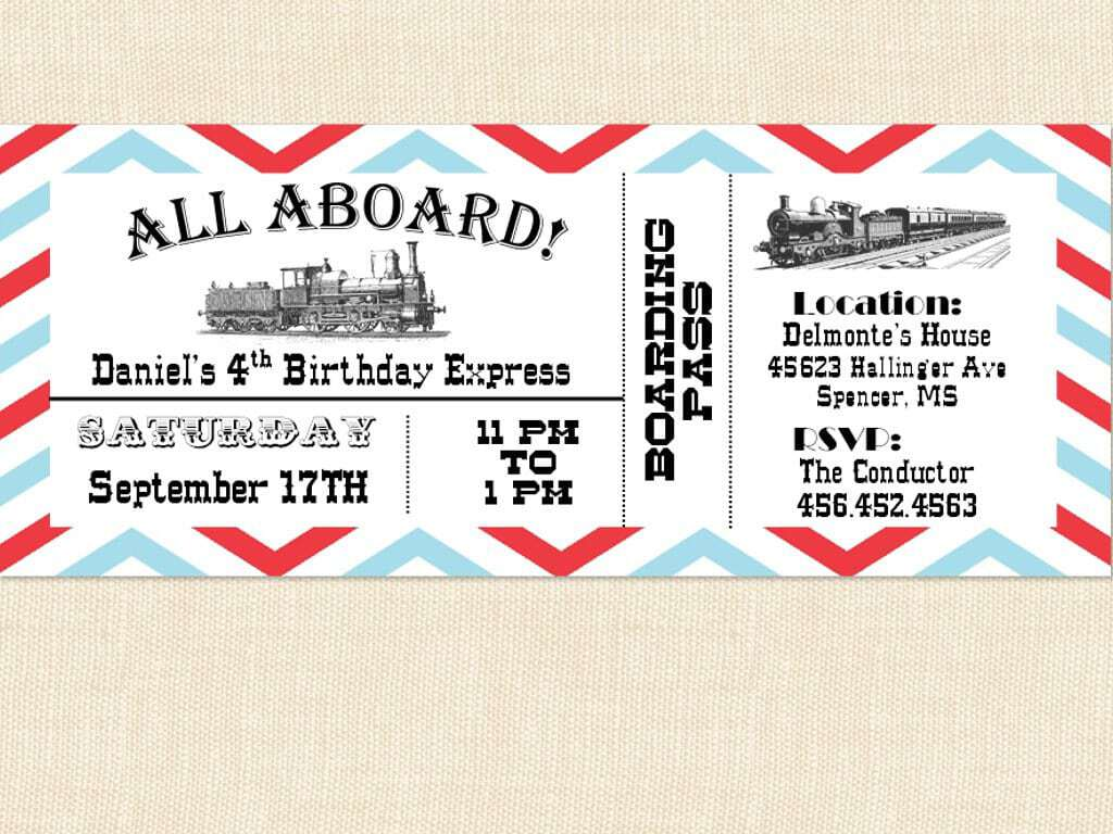 Ticket Invitation sample 14.4