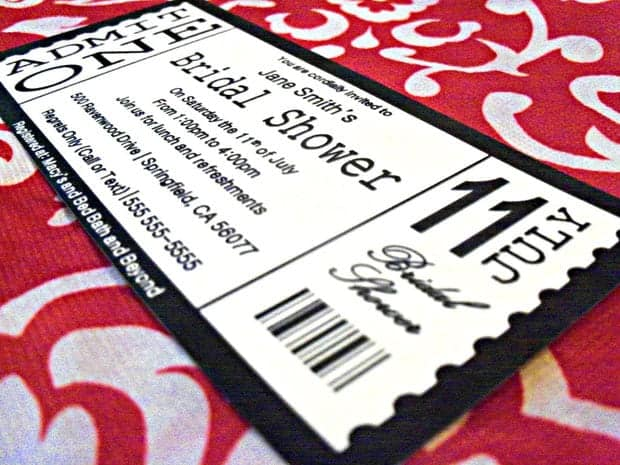 Ticket Invitation sample 5461