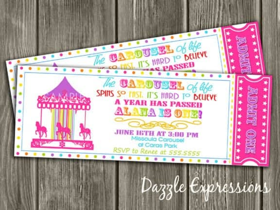 Ticket Invitation sample 6461