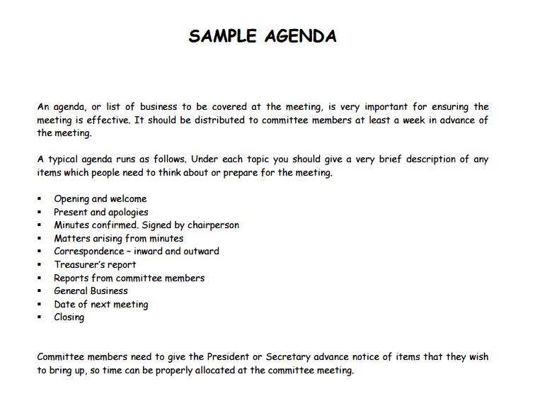 agenda template 341
