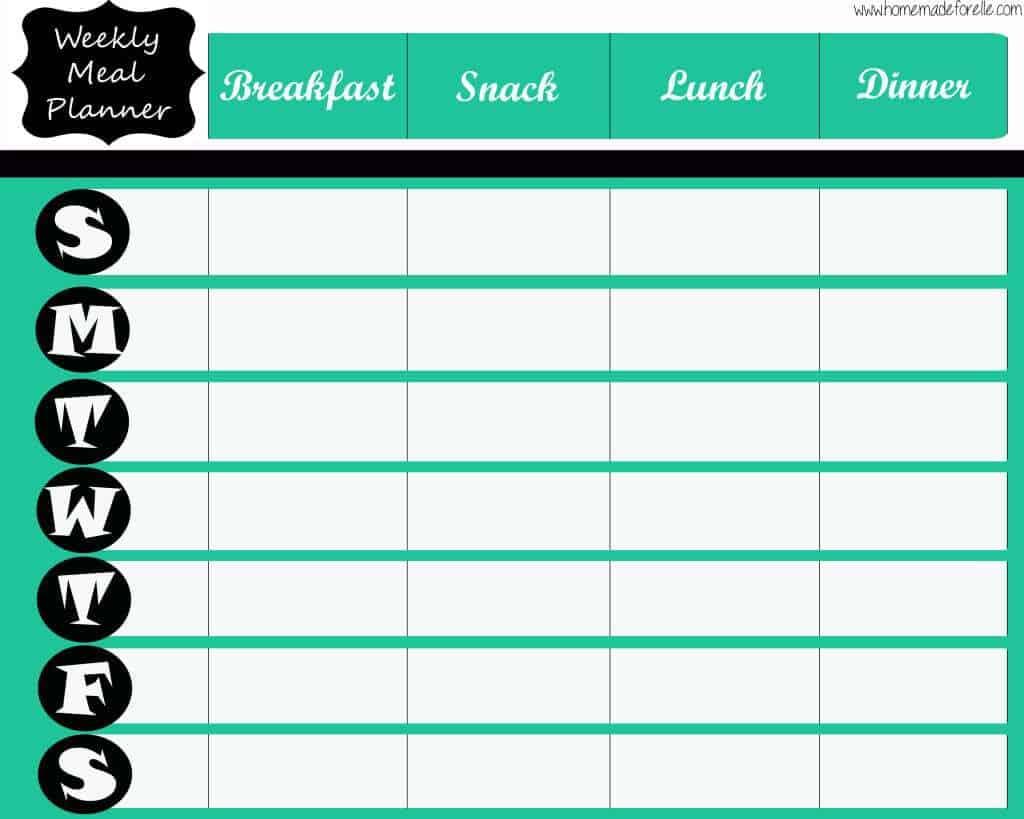 menu planner sample 5461