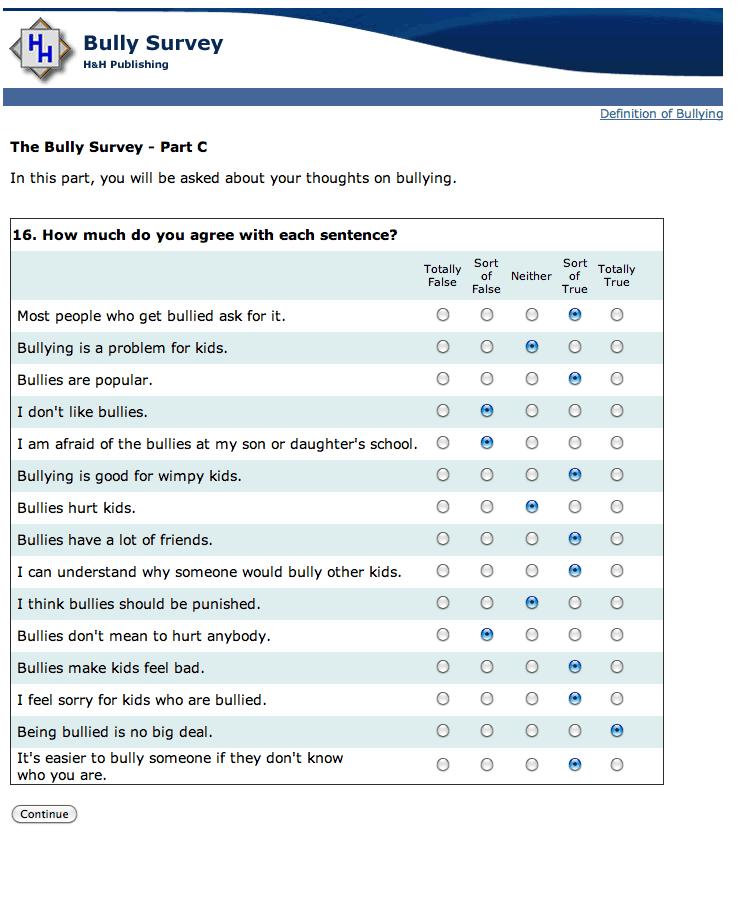sample survey 5461