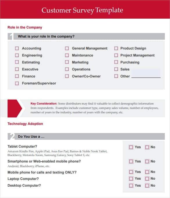 sample survey template 3641