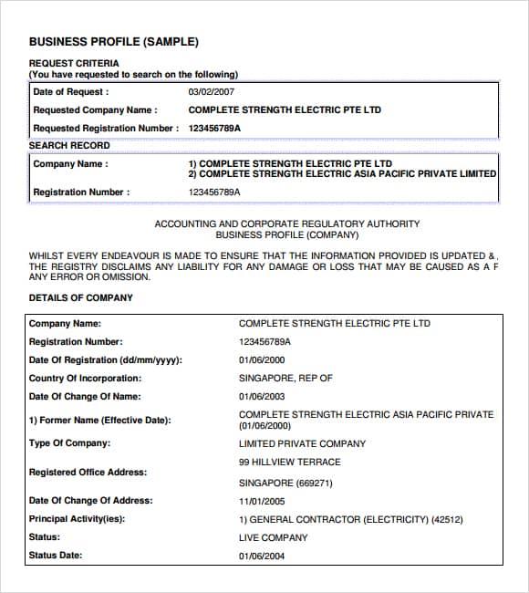 Company profile example 11.46964