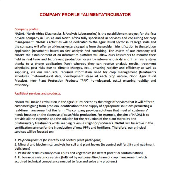 Company profile example 12341