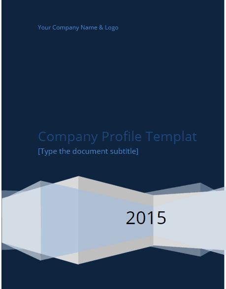 Company profile template 500