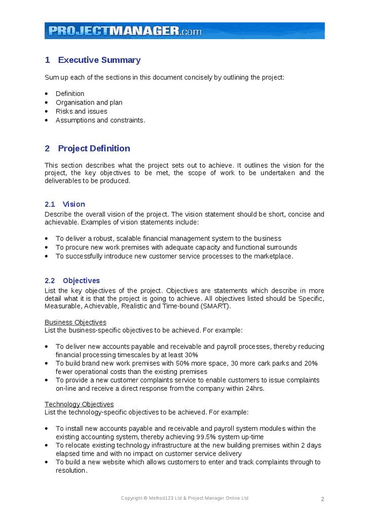 Executive Summary example 39641
