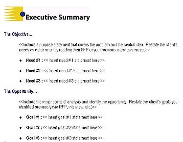 Executive Summary example 6941