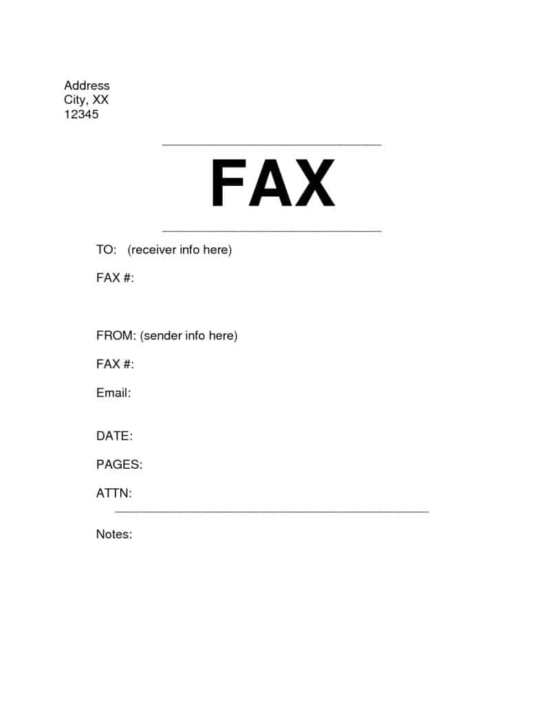 Fax Cover Sheet sample 8974
