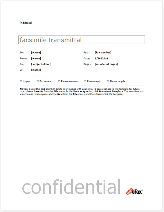 Fax Word sample 13.941