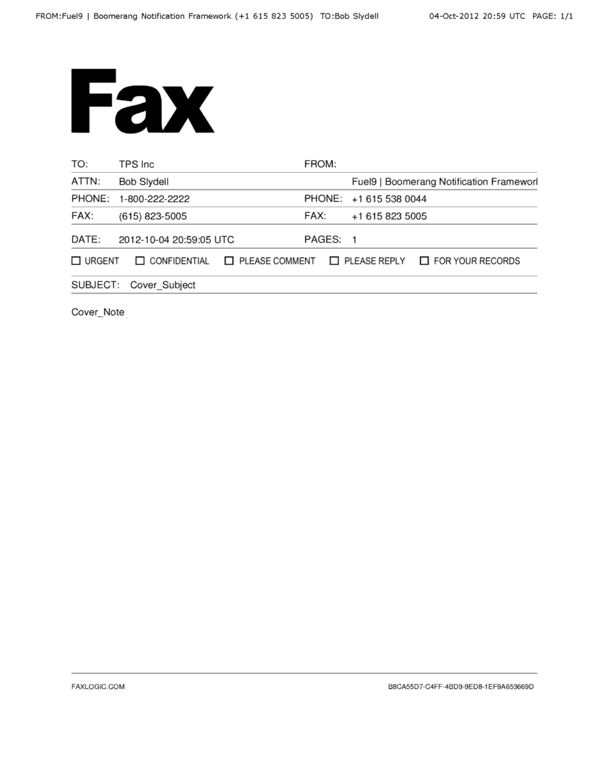 Fax Word sample 15.941