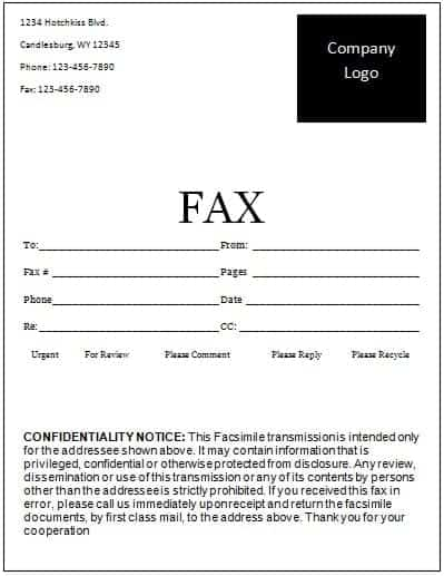 Fax Word sample 4941