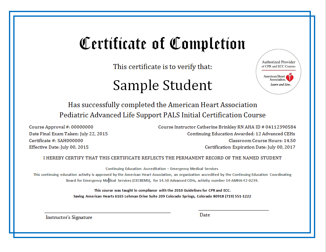 Free Certificate of Completion example 17.941