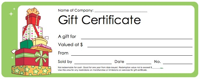 Free Gift Certificate Template 5941