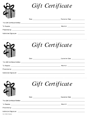 Free Gift Certificate Template 6941