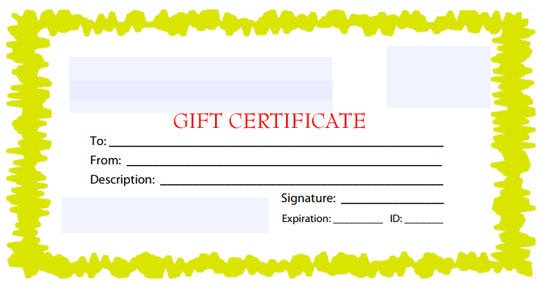 Free Gift Certificate Template 8941