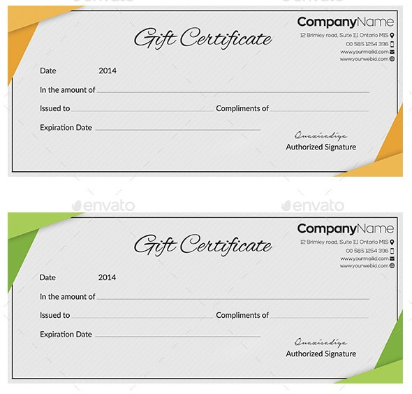 Free Gift Certificate sample 1641