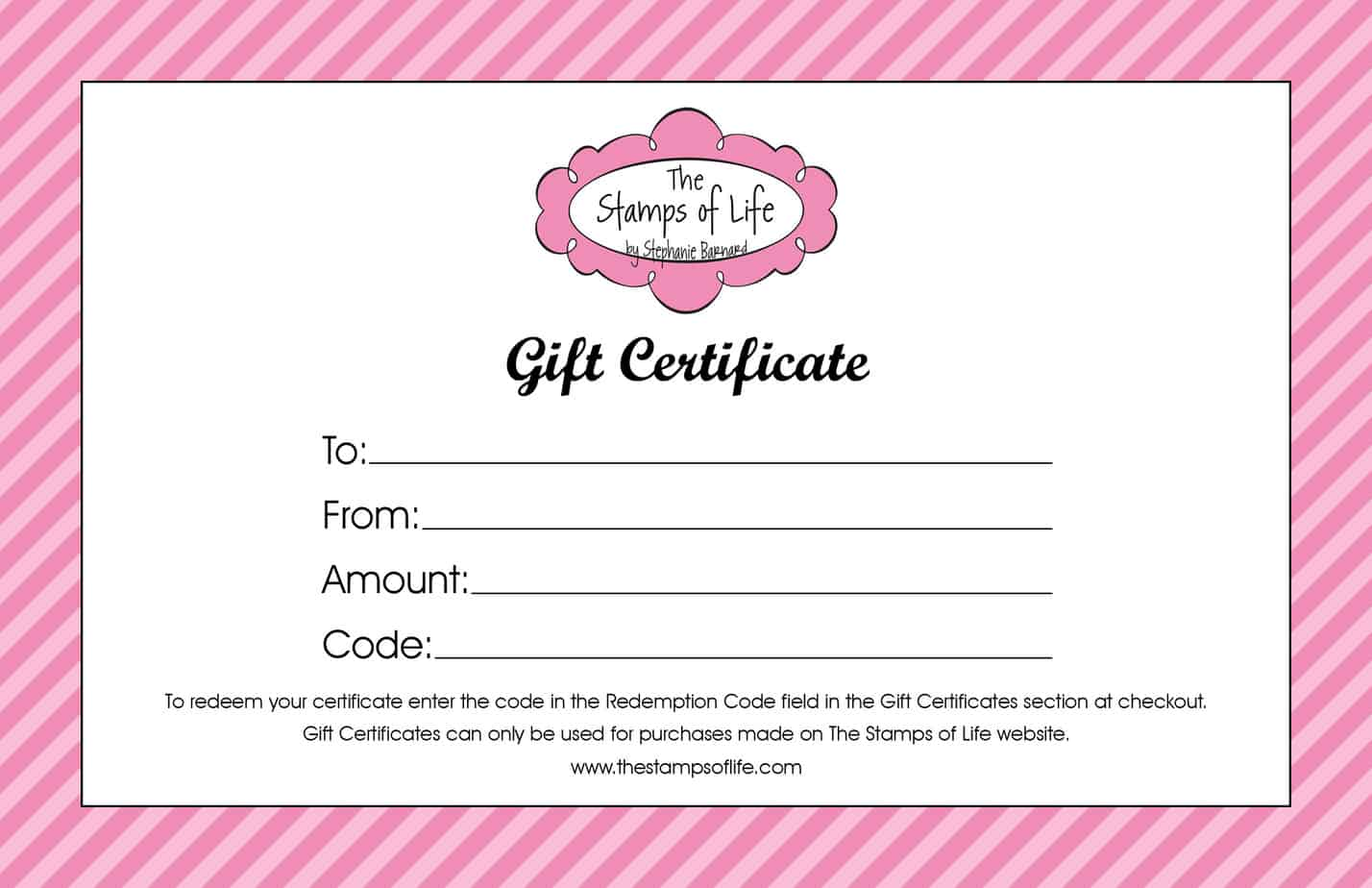 Free Free Gift Certificate Templates
