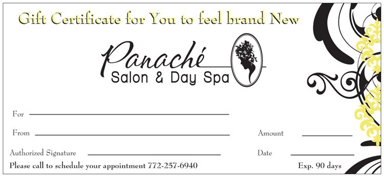 Free Gift Certificate sample 20.941