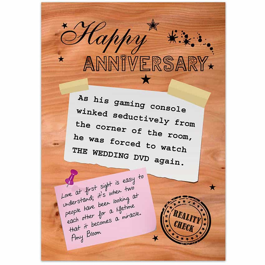 Happy Anniversary Card example 79641