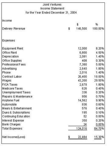 Income Statement sample 2941