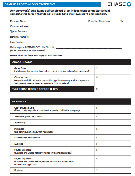 Profit and Loss Statement Template 441