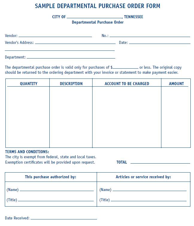 Purchase Order sample 19.164