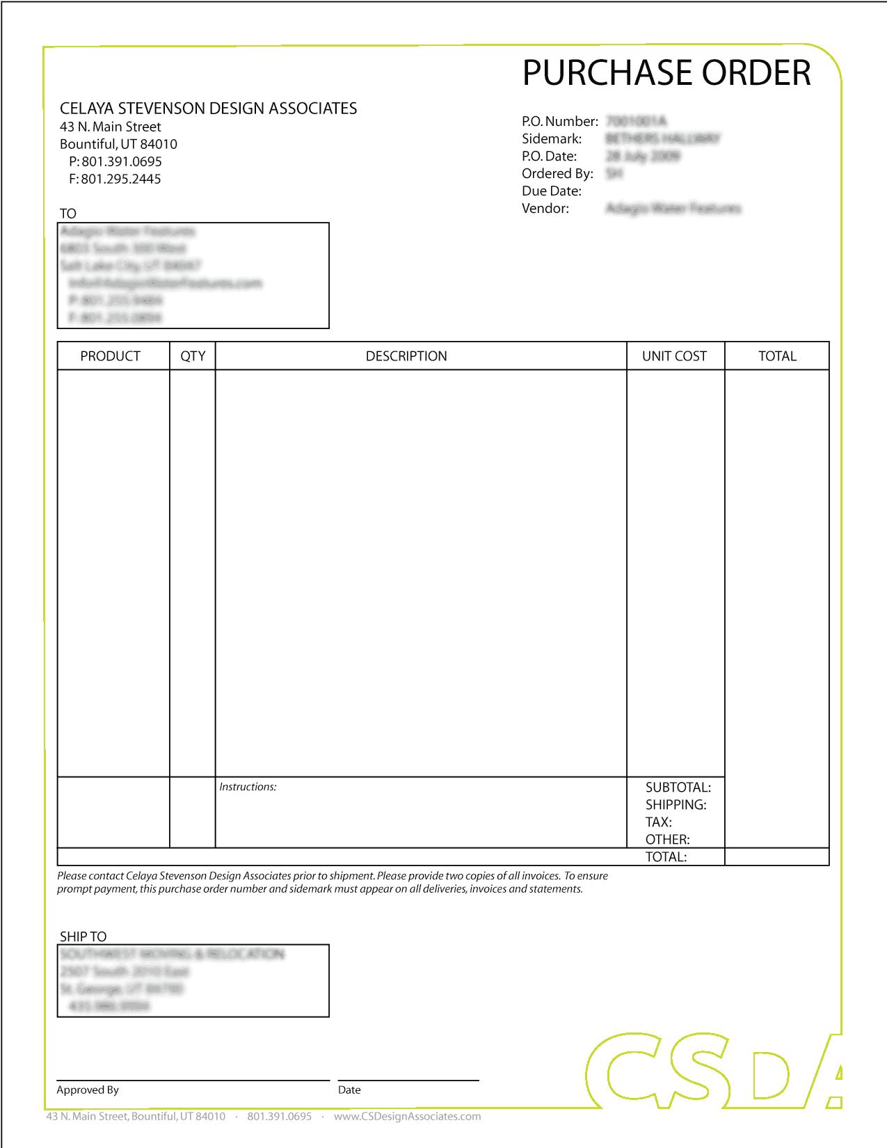 Purchase Order sample 28.9641