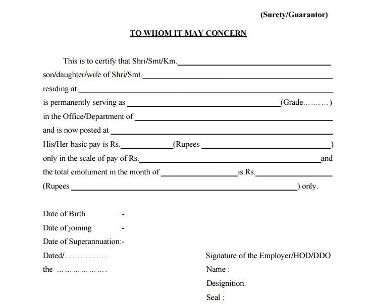 Salary Certificate Template 297461