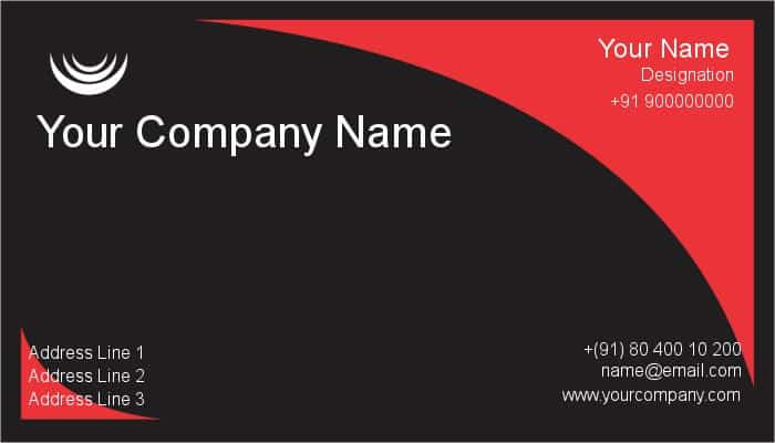 Visiting Card example 12.641