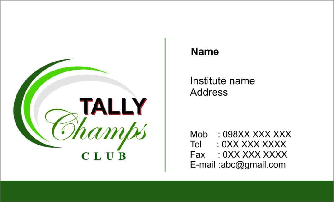 Visiting Card example 49874