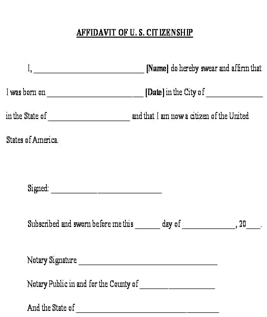 affidavit form example 4941