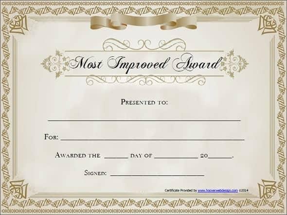award certificate sample 12.641