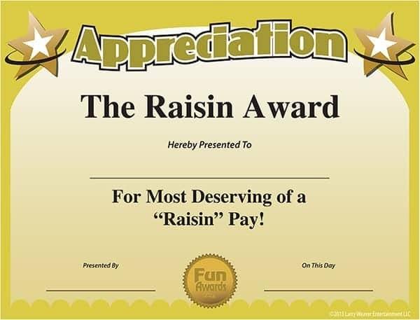 award certificate sample 13.41