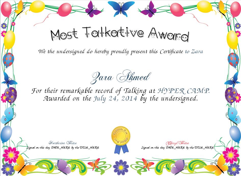 award certificate sample 15.941