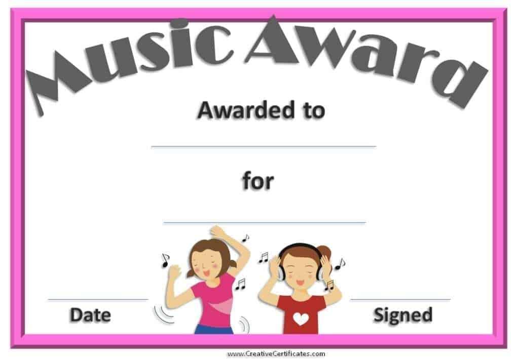 award certificate sample 78961